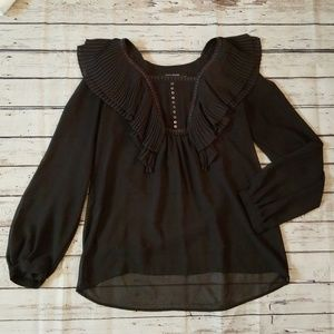 Zara Basic | Sheer Blouse Size S